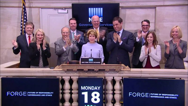 VIDEO: Forge NYSE Event Bell Ringing