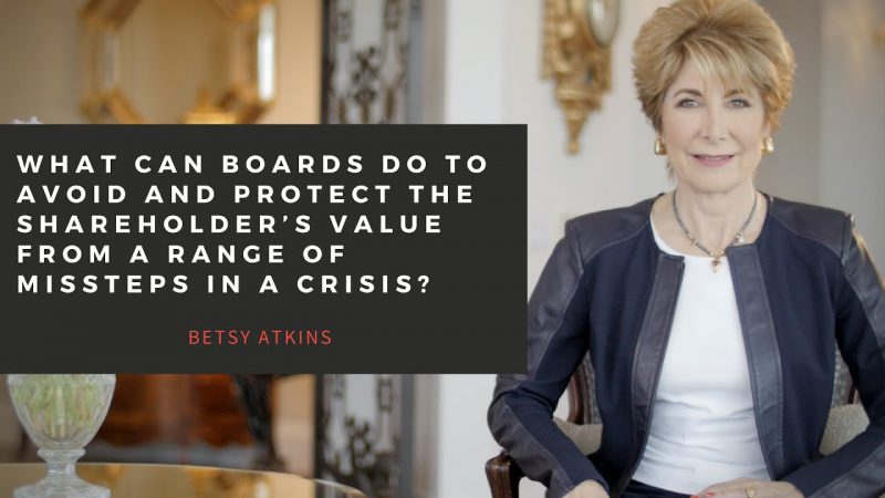 VIDEO: What can boards do to avoid and protect the shareholder's value from a range of missteps?