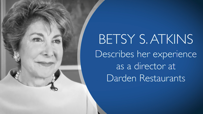 VIDEO: Betsy Atkins describes her experience as a Director at Darden Restaurants