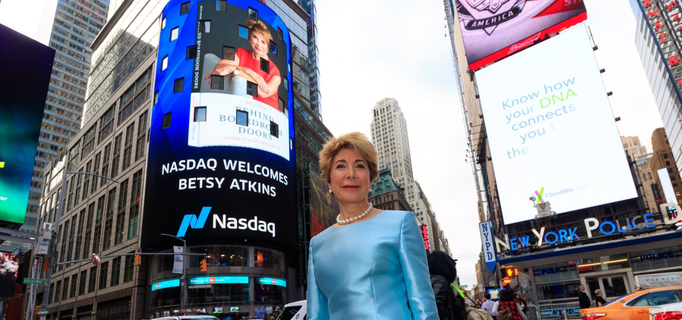 VIDEO: Nasdaq Spotlight / Betsy Atkins, Serial Entrepreneur and Author