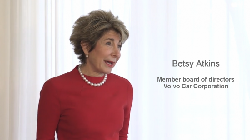 Betsy Atkins hosting Women in Leadership at Volvo HQ – Gothenberg, Sweden
