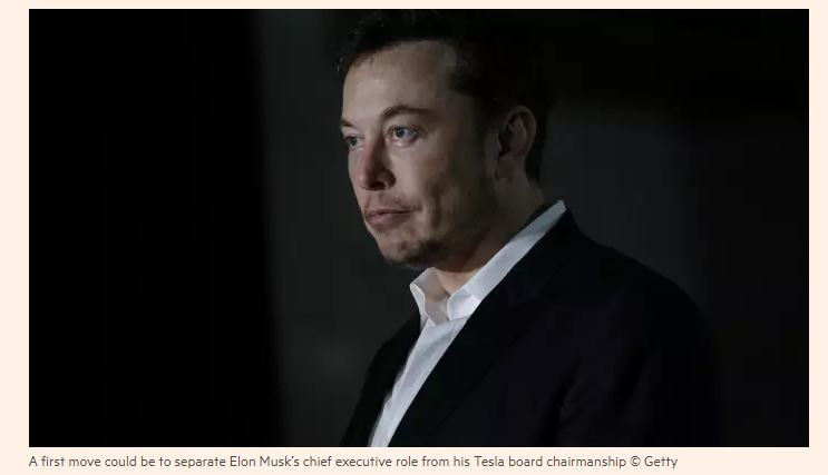 Financial Times / Three ways the Tesla board can mitigate Elon Musk's damage