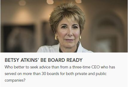 AdvisoryCloud Blog Post / Betsy Atkins' Be Board Ready