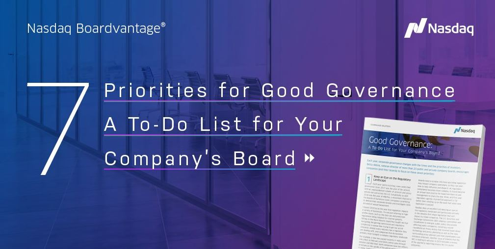 Good Governance: A To-Do List For Your Company's Board