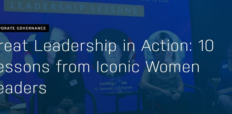 Great Leadership in Action: 10 Lessons from Iconic Women Leaders