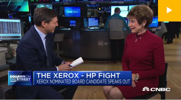 CNBC / Xerox and HP are a perfect fit, says board candidate Betsy Atkins