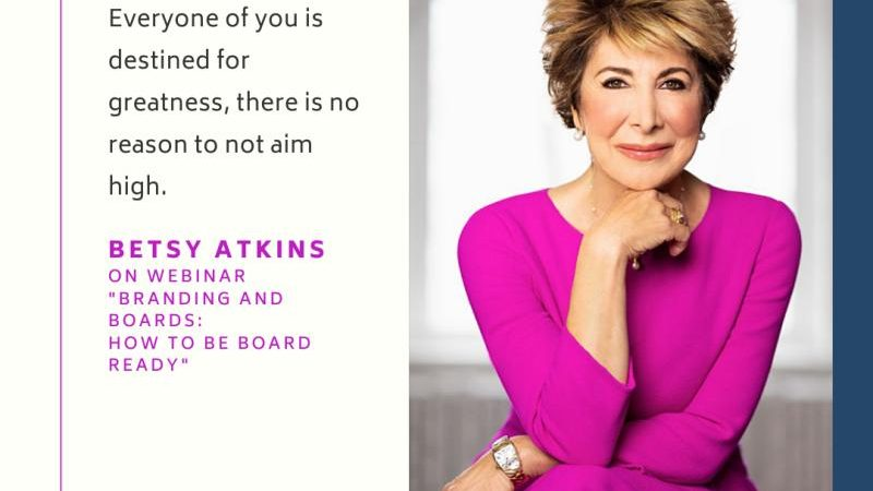 NYC Fintech Women: Branding and Boards with Betsy Atkins